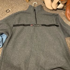 Oversized polo sweatshirt